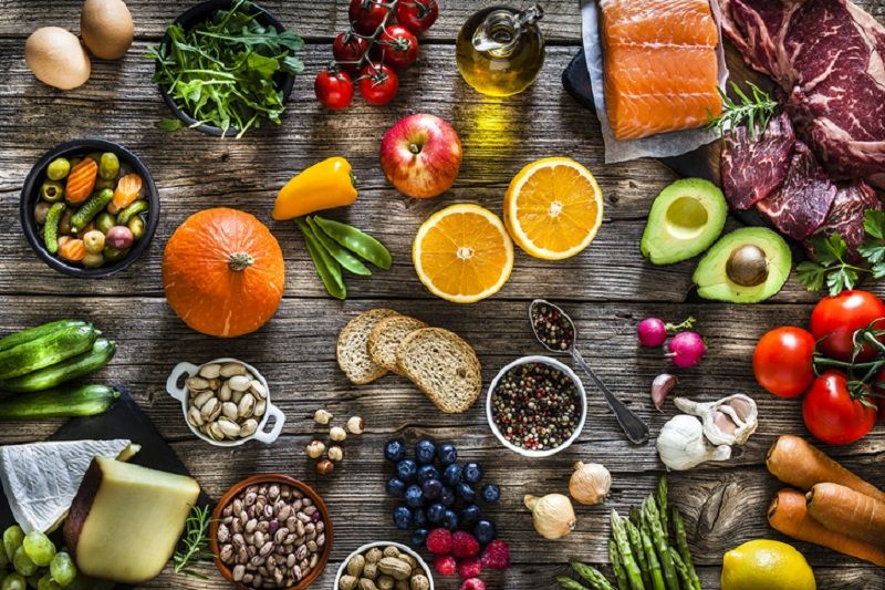 Image of a wide range of healthy foods