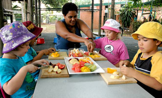 Healthy snacks at childcare