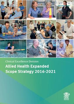 allied health expanded scope of practice 2016-2021 cover page