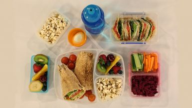 A lunchbox full of healthy food>