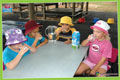 children drinking healthy drinks