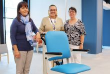 Gladstone Hospital Auxiliary donated two Swifi transfer chairs