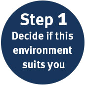 Step 1 Decide if this environment suits you