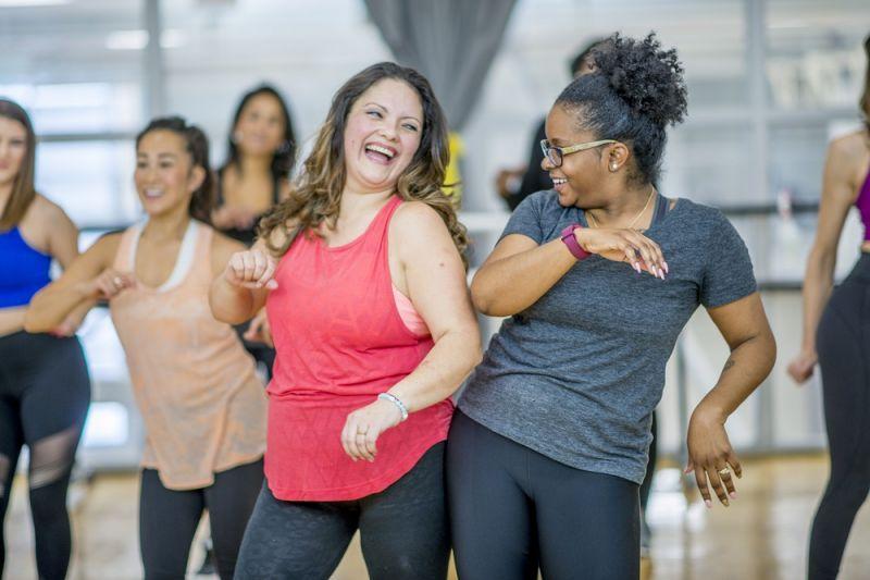 Women in dance class