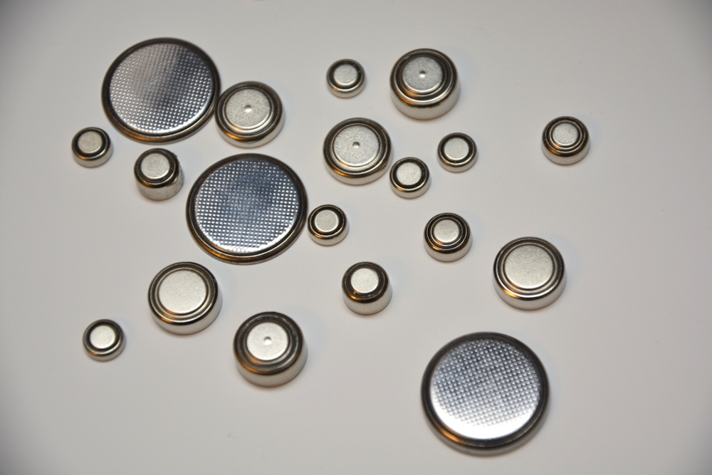 A selection of different sized button batteries