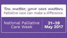 Image of the National Palliative Care week banner with the text