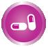 Icon showing medicines information