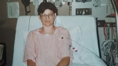An image of Karen in the Prince Charles Hospital>