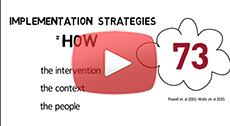 Webinar 1: Implementing a practice change – Implementation strategies