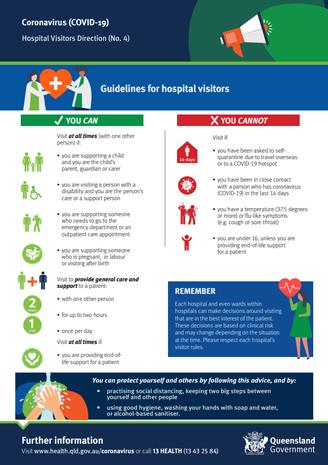 Guidelines for hospital visitors