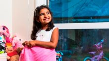 Image of five-year-old Saanvi, organ recipient.