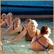 An active swimming class