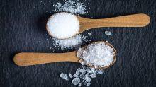 Salt on spoons