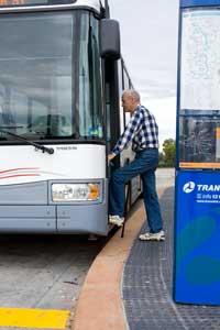 Man accessing public transport
