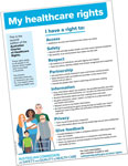 Link to Australian Charter of Healthcare rights (NSQHSS)